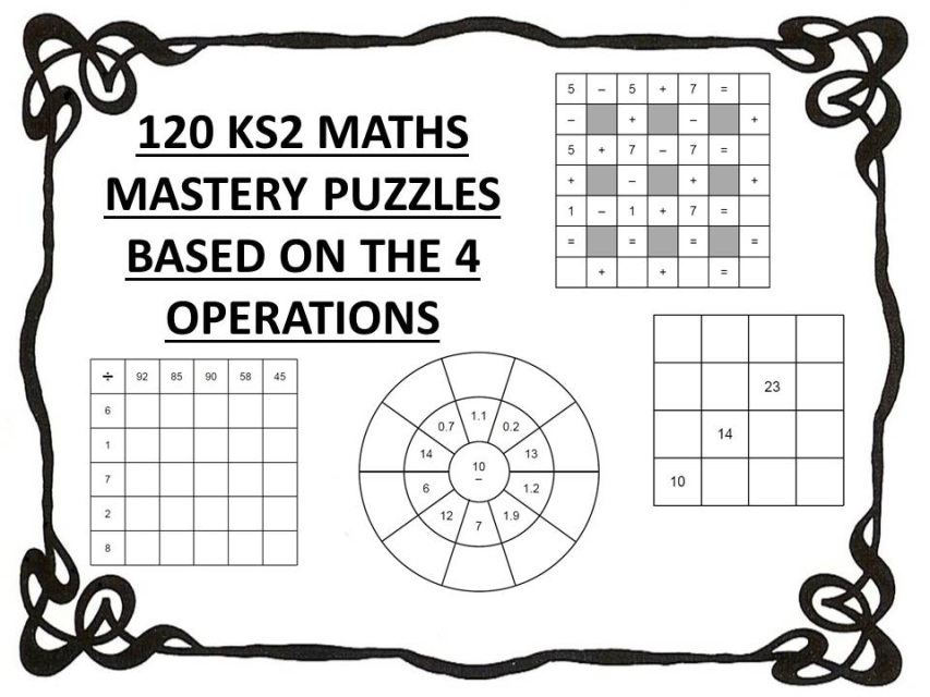 120 ks2 maths mastery puzzles based on the 4 operations. Black Bedroom Furniture Sets. Home Design Ideas