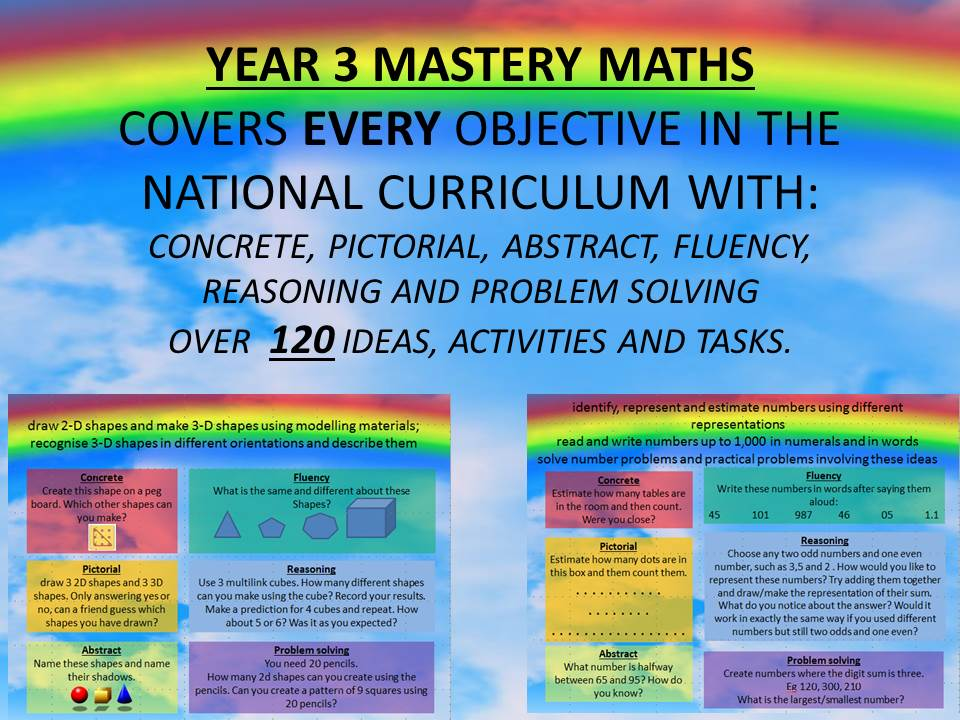 YEAR 3 MASTERY MATHS COVERS EVERY OBJECTIVE